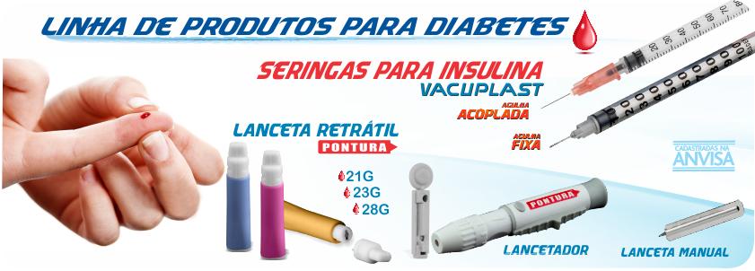 Lancetas com dispositivo de seguran�a e Lancetador PONTURA